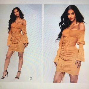 Mustard colored dress!